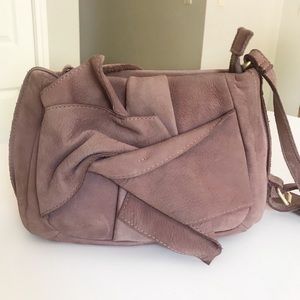 Anthro Miss Albright Blush Nubuck Crossbody Bag